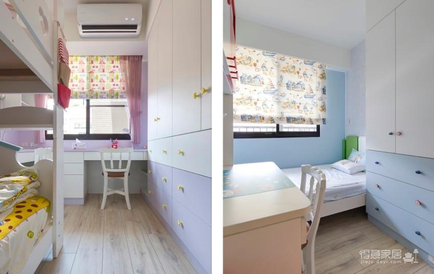 120平田园风三居室,恬雅梦幻的居家感