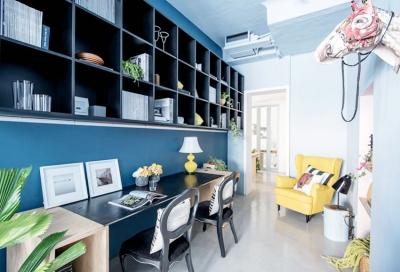 清新蓝色日光感复式公寓