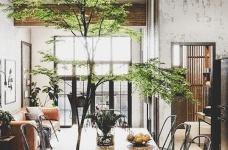 绿意围绕!越南63平工业风挑高公寓图_13