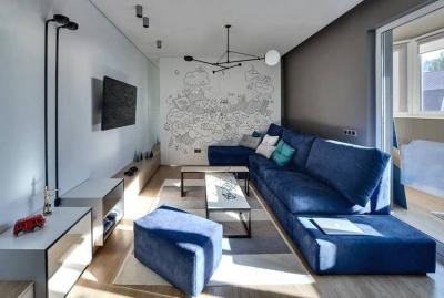 72平跳色活力的家,色彩搭配超有亮点!