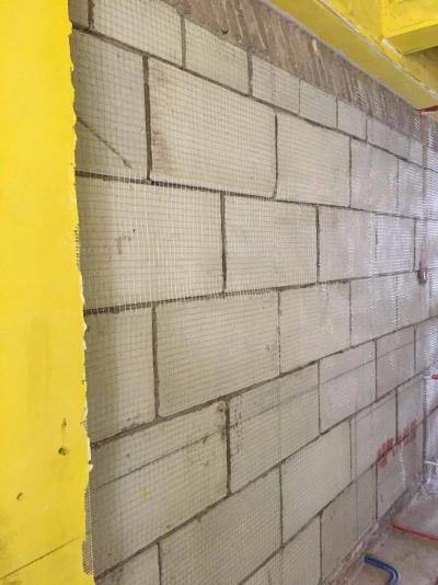 东湖城二期砌墙验收