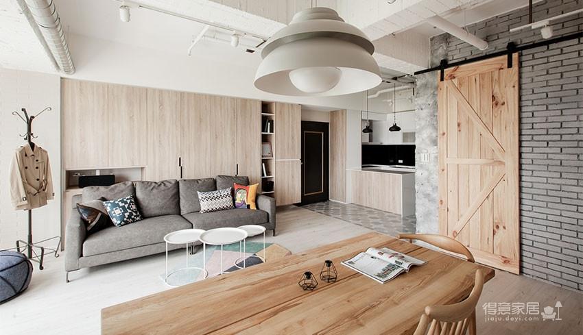 96平北欧原木风的家!满满的绿意好清新!图_1