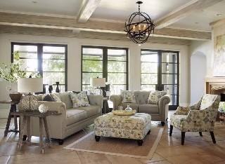 爱室丽美式三人位沙发