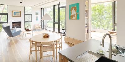 静谧自然感的现代风住宅