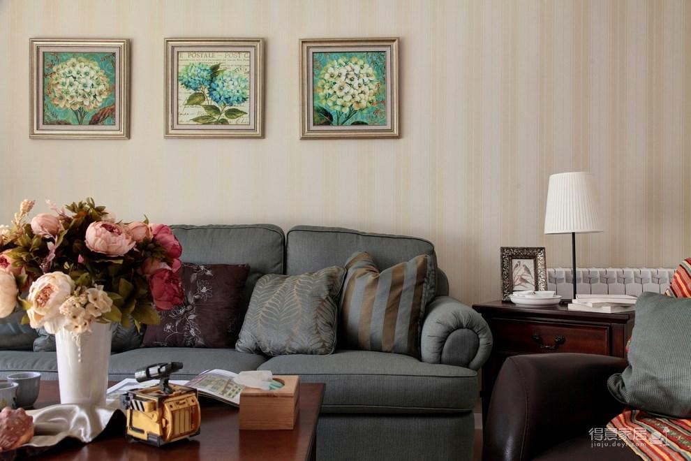 139平美式三居室,恬淡中的小清新!图_3