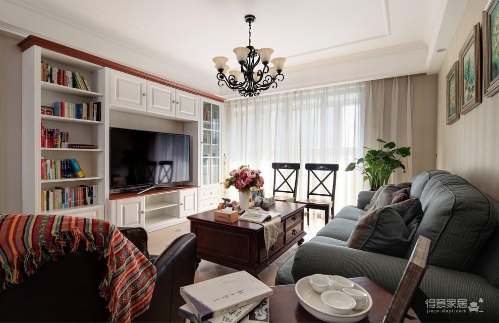 139平美式三居室,恬淡中的小清新!图_1