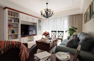 139平美式三居室,恬淡中的小清新!