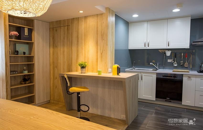 木质清新调的现代家,开发式厨房好棒!图_4
