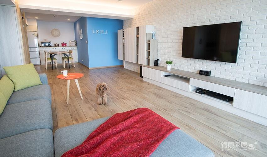 木质清新调的现代家,开发式厨房好棒!图_1