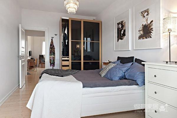 开放式+收纳设计宽敞舒适的41平小公寓