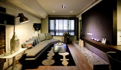 72平现代混搭范风公寓,黑白灰彰显格调!
