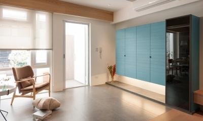 96平日式原木感的家,色调超活泼!