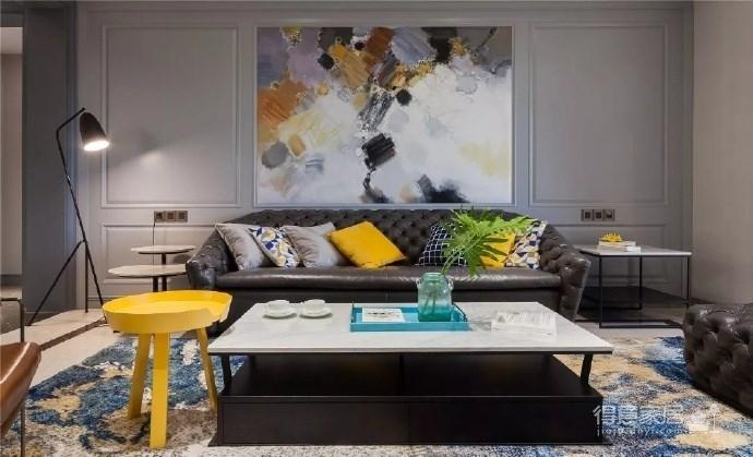 现代美式,用色大胆,空间精致而大气!图_1