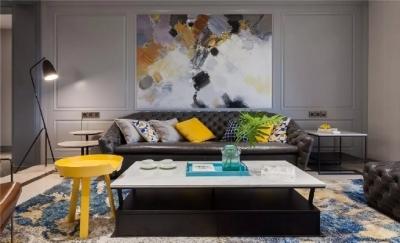 现代美式,用色大胆,空间精致而大气!