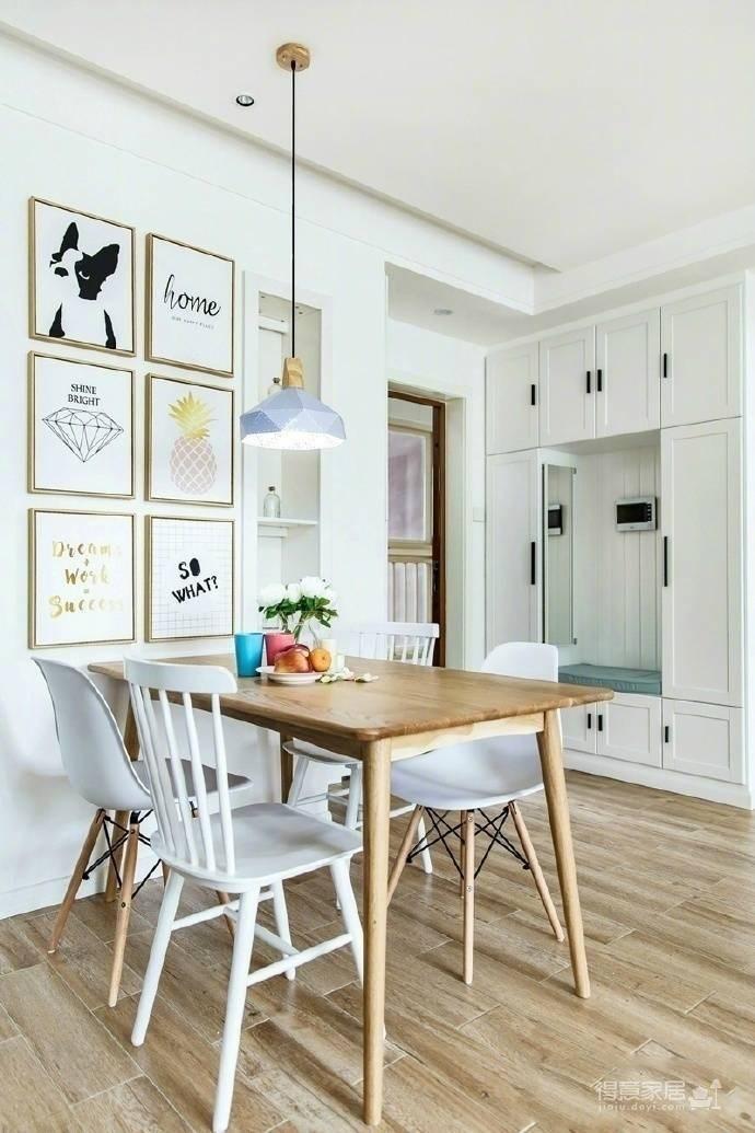89㎡北欧风,清新明亮的空间使这个家更显舒适温馨! 图_4