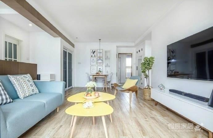 89㎡北欧风,清新明亮的空间使这个家更显舒适温馨! 图_2