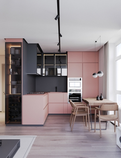 清新耐看的粉色北欧家,与灰调搭配竟如此美腻!