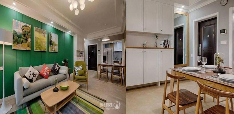 暖暖的北欧风+清新的田园绿,清新优雅的89平新家,最好的家装选择