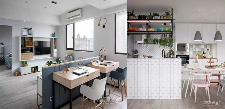 90平实用北欧风,水泥自流平与简约的大白墙、木地板组成了精致的简约三居所