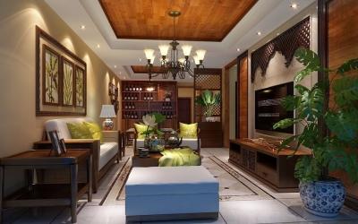 金地国际花园 151平方 东南亚风格