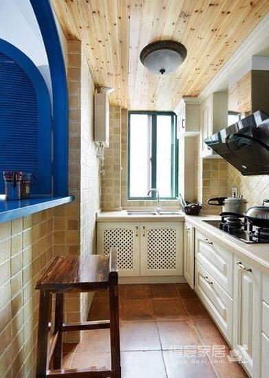 98平米地中海风格,经典的蓝白搭配!