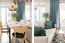 湖水绿的北欧家,温馨浪漫感十足,色彩美呆了!图_4