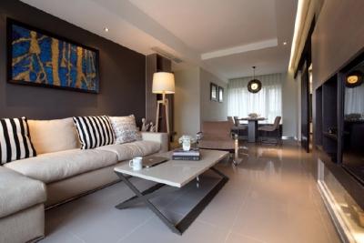 灰白灰和木色为基调,搭配简约柔和的家具!