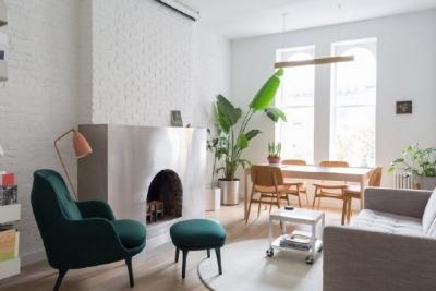 现代简约的新家,超有个性的不锈钢壁炉