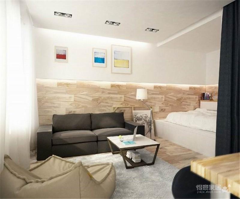 一室一厅现代简约小家