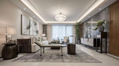 充满现代元素的中式样板间般的家!