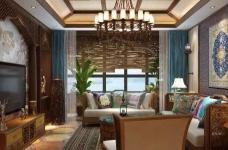 香格里拉 160平方 东南亚风格私人住宅图_1