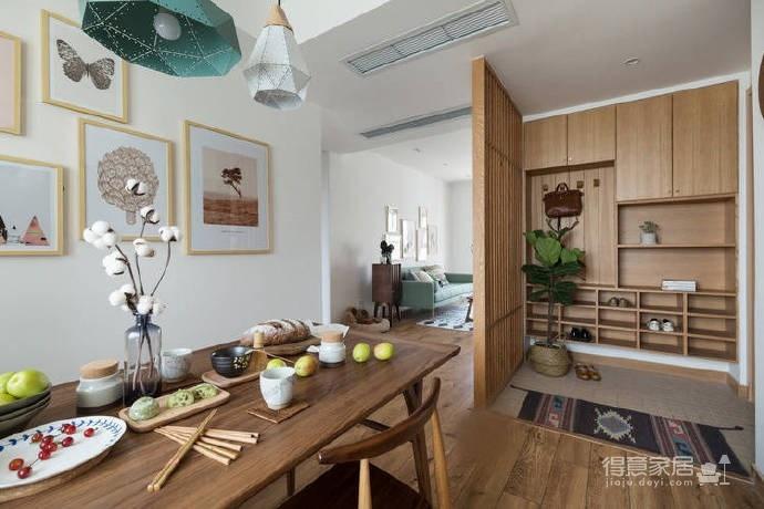 106平米北欧与日式的自然清新家!图_6