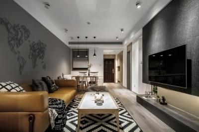 84m²现代简约二居室 