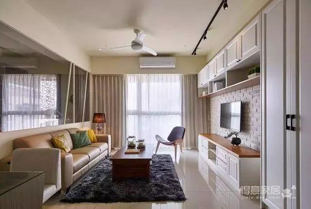 90㎡美式两居室装修,迎接立夏的明媚阳光!图_1
