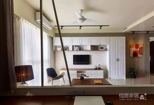 90㎡美式两居室装修,迎接立夏的明媚阳光!图_4