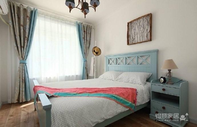 90㎡地中海与田园风格混搭出来的小清新家