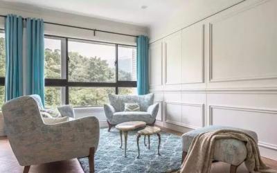 120㎡美式三居室装修,以框取景更动人!