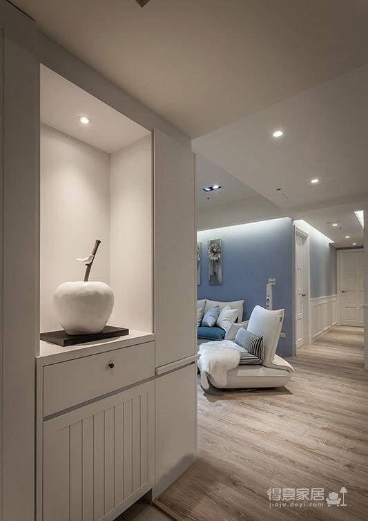 102㎡蓝白·现代简约风格三居室图_2