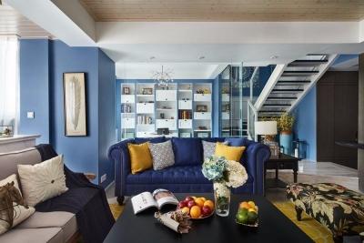 120平方 地中海风格三室两厅 小复式