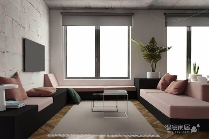 50平方 工业风LOFT 完美的一居室
