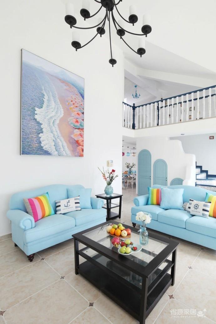 地中海风格复式家居,静静等候的时光仿佛就在眼前