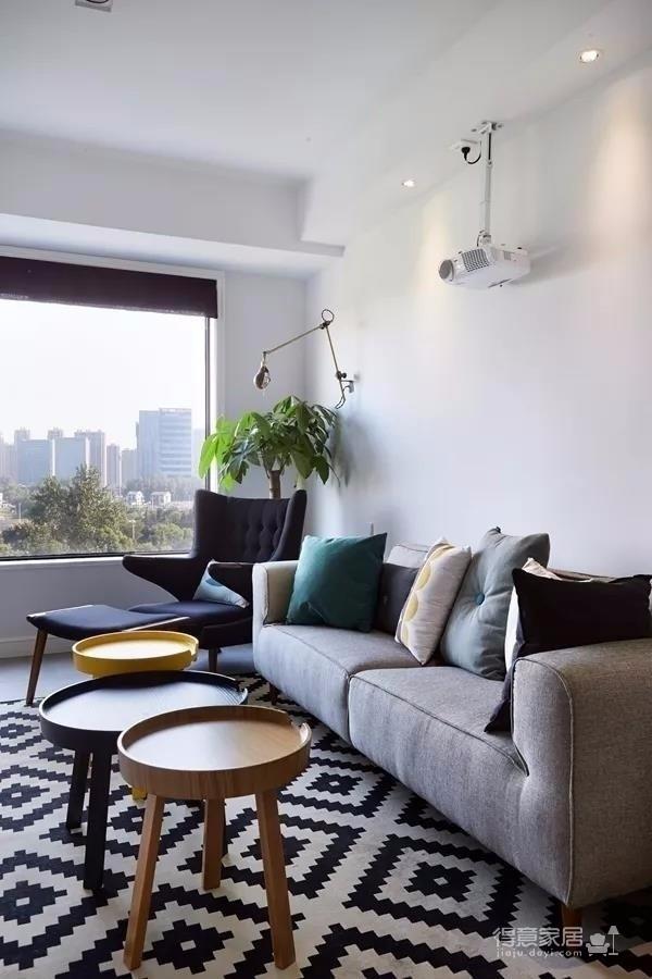 美林青城 85平方两室两厅 现代北欧风图_2