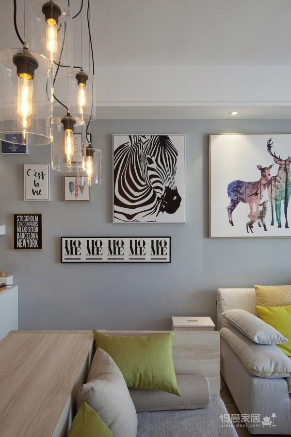 80㎡现代简约风,自然端庄好大方!客厅黑板墙亮了