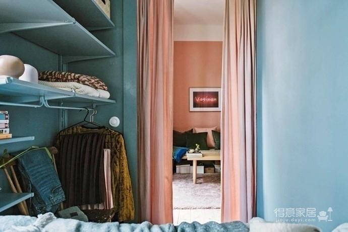 30㎡单身公寓设计,小而美的粉色蜗居