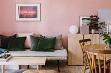 30㎡单身公寓设计,小而美的粉色蜗居图_1