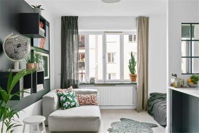 32㎡鲜活公寓,利用室内窗创造通透