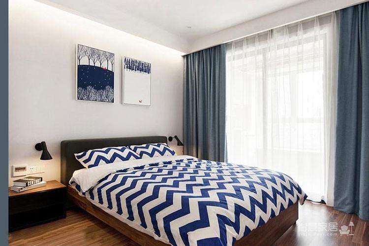 宜家风格简约三居室,色调温馨美如画报
