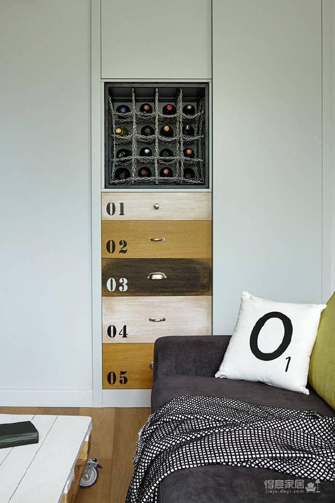 高级灰/柠檬黄家具搭配、让人安静的居室