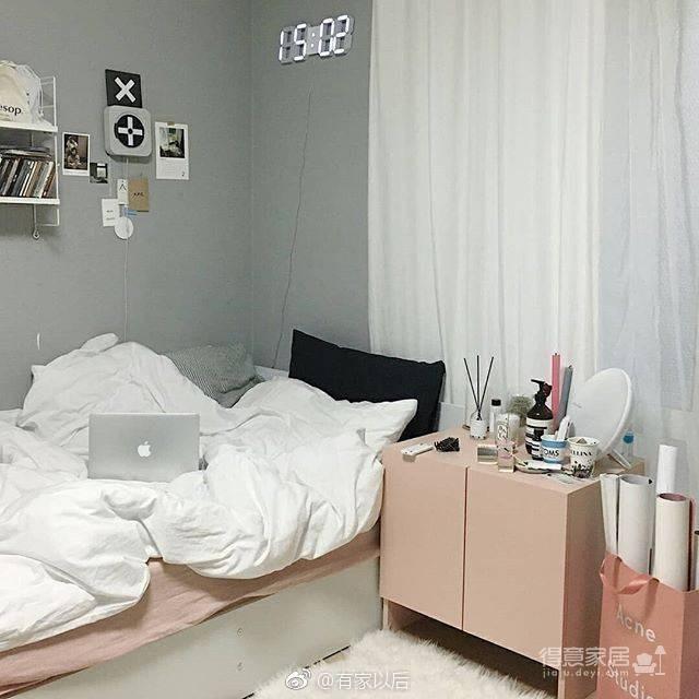 韩式ins风卧室,没有韩剧人生,我还不能有个韩式卧室吗?图_5