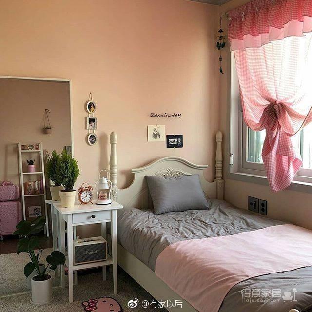 韩式ins风卧室,没有韩剧人生,我还不能有个韩式卧室吗?图_7